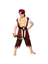 Boy's Muscle Chest Pirate Costume
