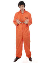 Men's Orange Prisoner Convict Costume