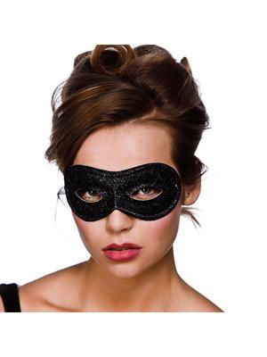 Glitter Eyemask Black