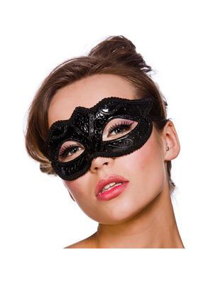 Verona Eyemask Black Glitter