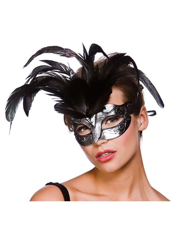 Firenze Eye Mask -  Silver And Black
