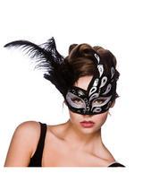 Salerno Eye Mask - Black And Silver