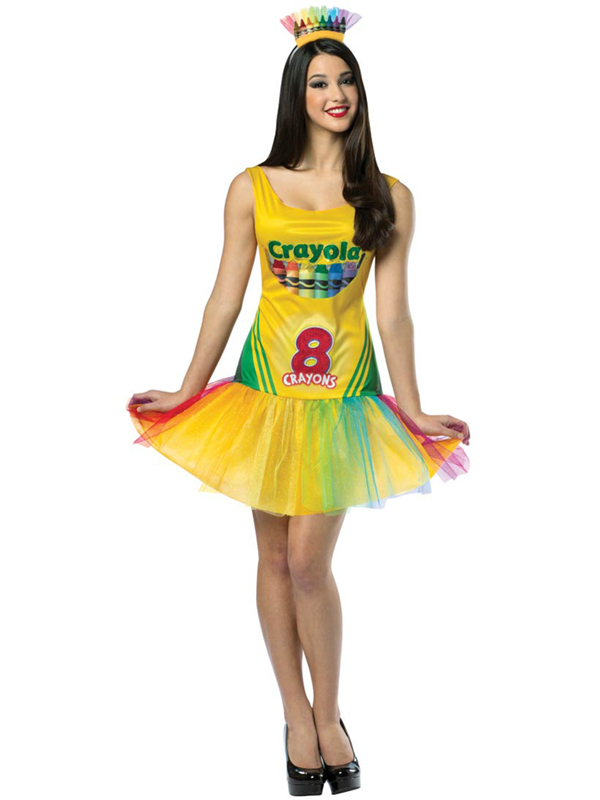 Adult 8 12 crayola crayon box dress outfit fancy dress tutu costume sentinel adult 8 12 crayola crayon box dress outfit fancy dress tutu costume sexy crayon solutioingenieria Gallery