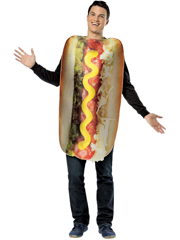 Adult's Loaded Hot Dog Costume