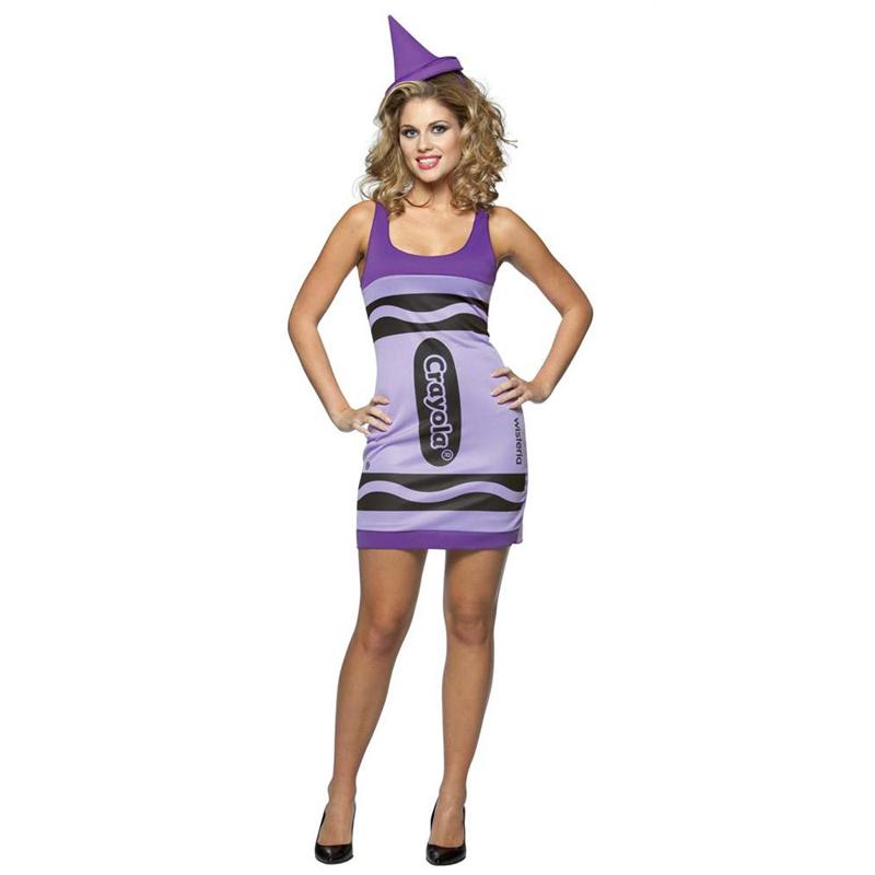 Adult Crayola Tutu Fancy Dress Costume Tank Crayons