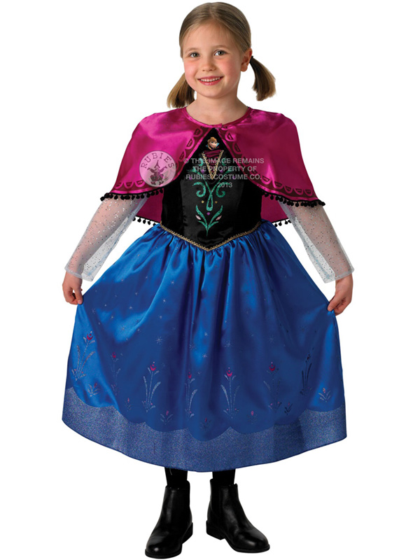 Child Disney Deluxe Anna Travelling Outfit Costume