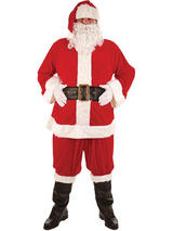 Piece Super Deluxe Santa Suit Costume