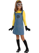 Girl's Despicable Me 2 Female Minion Costume