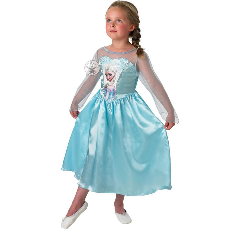 GENUINE-LICENSED-DISNEY-Frozen-Anna-Elsa-Classic-Princess-Fancy-Dress-Costume