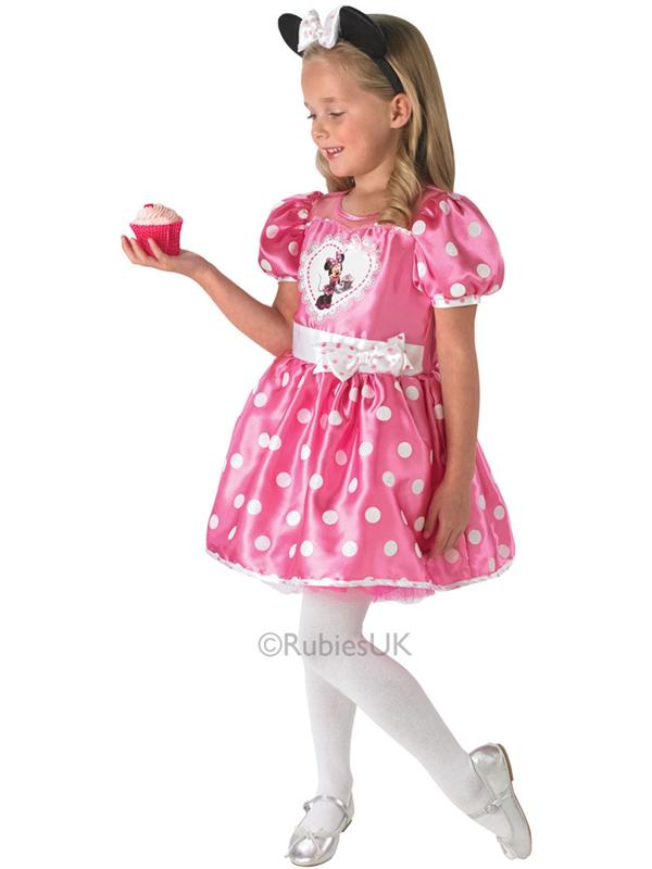BAMBINO-DISNEY-Cupcake-Rosa-Minnie-Mouse-Outfit-Costume-  sc 1 st  eBay & Child Disney Cupcake Pink Minnie Mouse Outfit Fancy Dress Costume ...