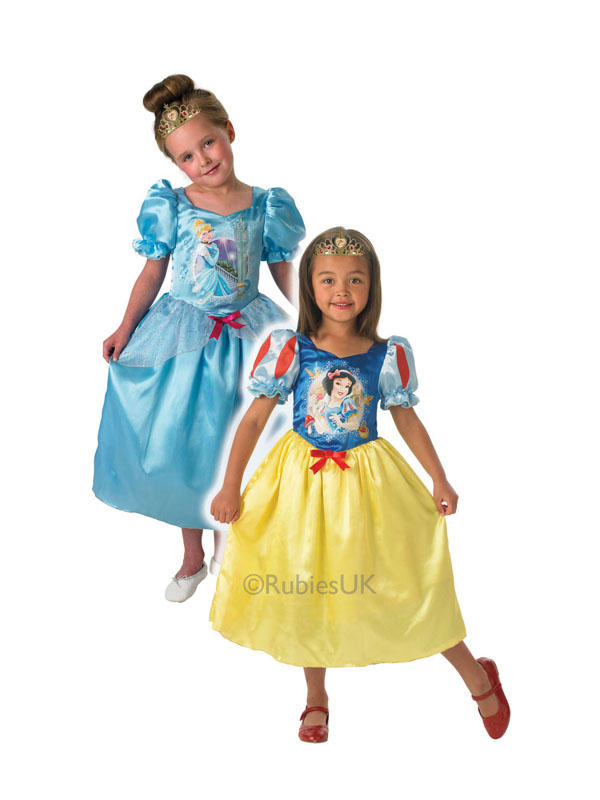 Child Disney Princess Cinderella To Snow White Reversible Costume Thumbnail 1