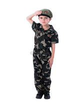 Boy's Soldier Jumpsuit Costume