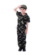 Boy's Soldier Jumpsuit Costume