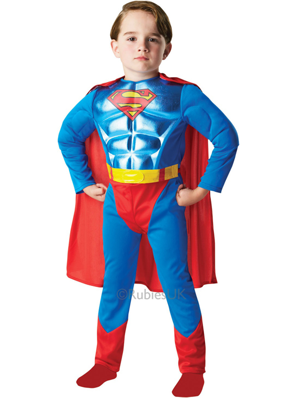 Child Metallic Chest Superman Costume