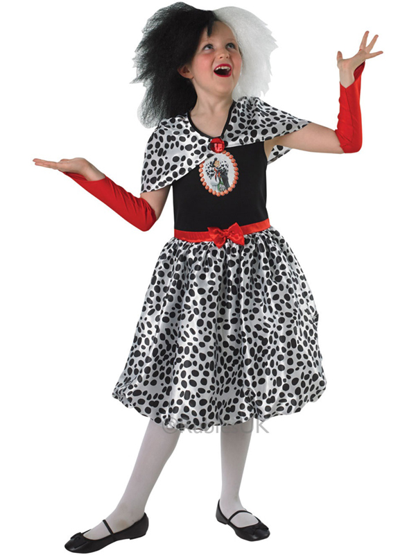 cruella de vil tween costume 101 dalmatians plymouth fancy dress costumes and accessories. Black Bedroom Furniture Sets. Home Design Ideas