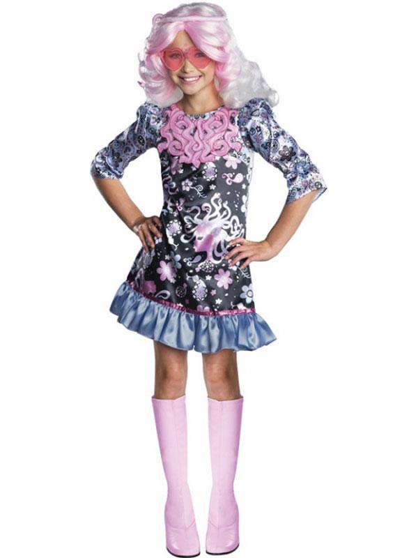 Child monster high viperine gorgon outfit fancy dress costume book week girls ebay - Tenue monster high ...