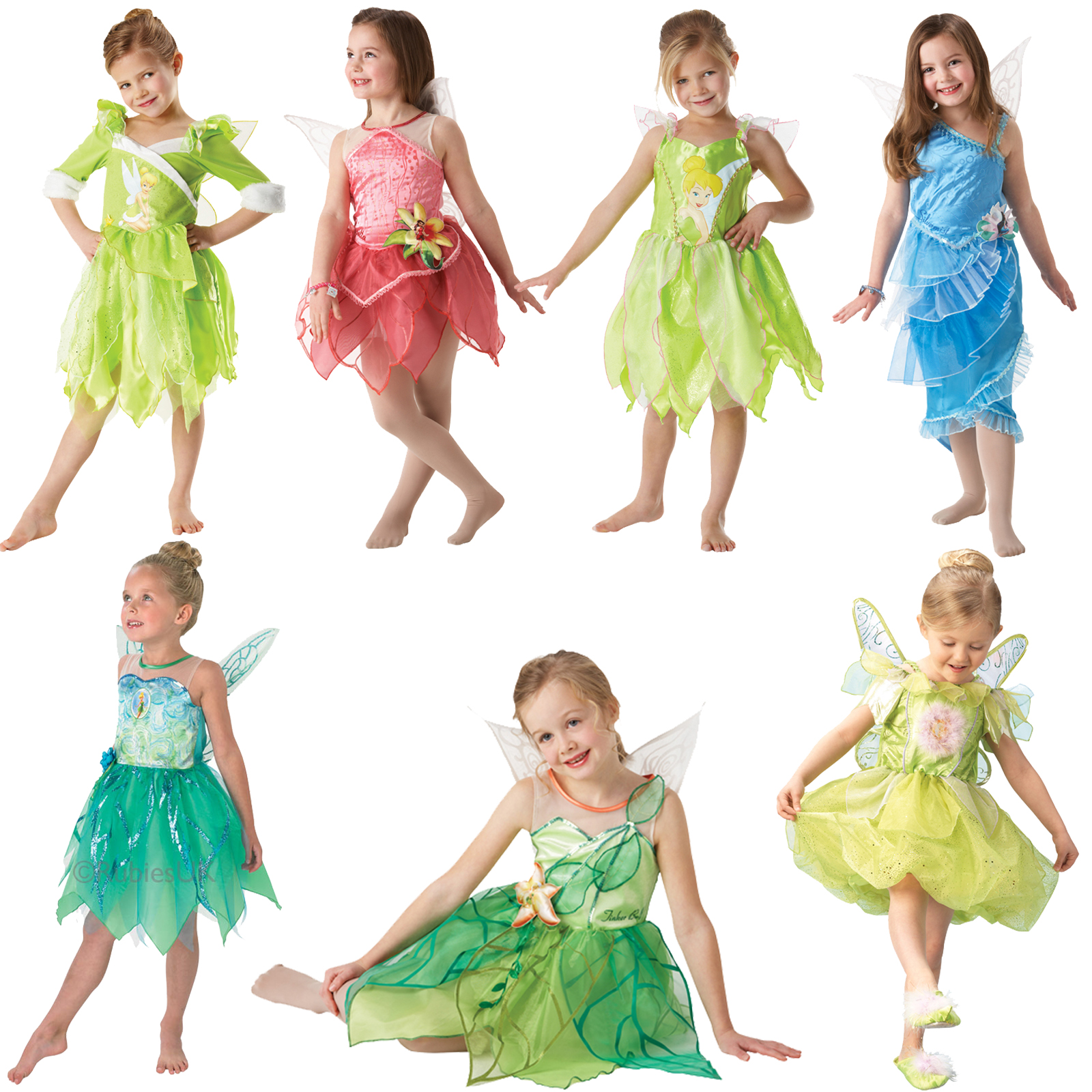 Official Disney Tinkerbell Pixie Fairies New Fancy Dress