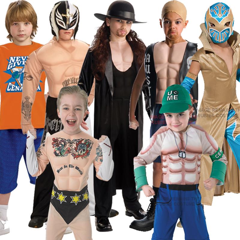 Childs Wwe Muscle Chest Deluxe Wrestling Fancy Dress Kids
