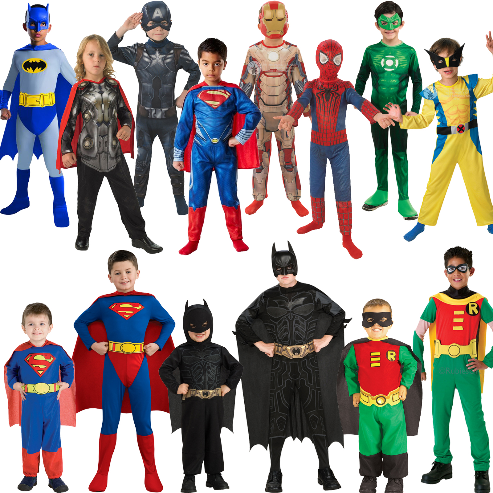 Licensed Childs Classic Superhero Fancy Dress New Costume
