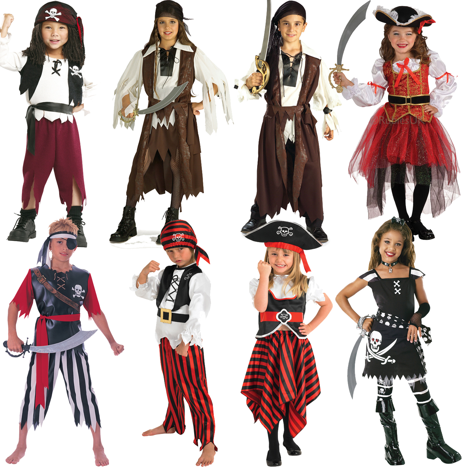 Sentinel Caribbean Book Week Pirate Boys Fancy Dress Costume Girls Buccaneer Kids Outfit  sc 1 st  eBay : costume of pirates  - Germanpascual.Com