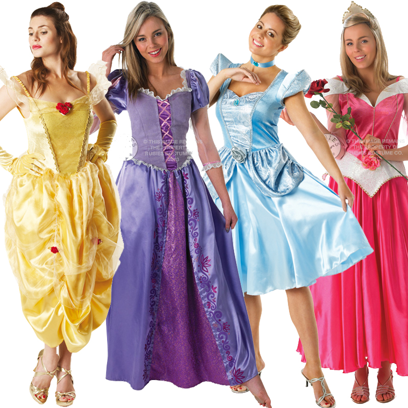 Sentinel Licensed Disney Princess Deluxe Ladies Fairytale Adult Fancy Dress New Costume  sc 1 st  eBay & Licensed Disney Princess Deluxe Ladies Fairytale Adult Fancy Dress ...
