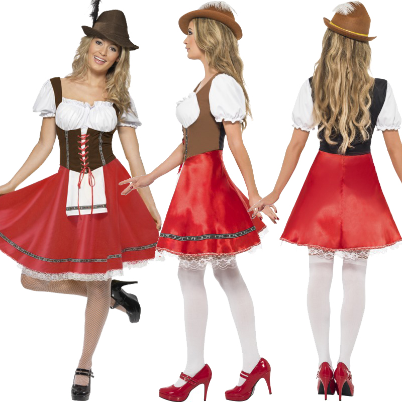 Sentinel Mens German Bavarian Oktoberfest Ladies Beer Maid Fancy Dress Costume Lederhosen  sc 1 st  eBay & Mens German Bavarian Oktoberfest Ladies Beer Maid Fancy Dress ...
