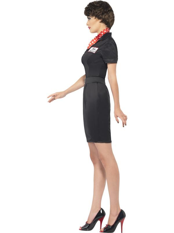 Grease Rizzo Fancy Dress Costume Black Y 1950s Las Womens Thumbnail 2