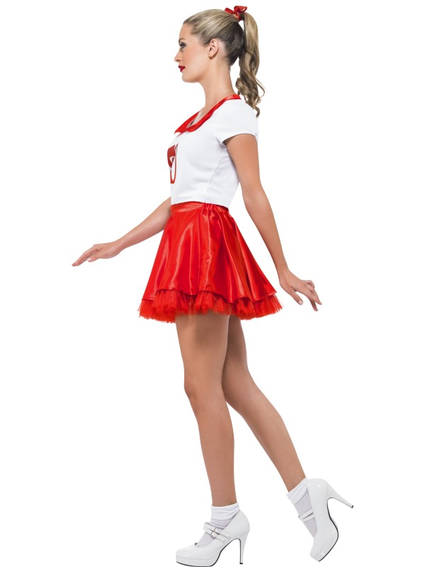 ... Adult Grease Sandy Cheerleader Fancy Dress Costume Sexy 1950s Ladies Womens Thumbnail 2 ...  sc 1 st  Plymouth Fancy Dress & Adult Grease Sandy Cheerleader Fancy Dress Costume Sexy 1950s Ladies ...