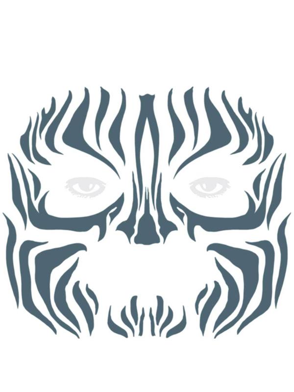 Tribal Zebra Face Tattoo - Tinsley Transfers