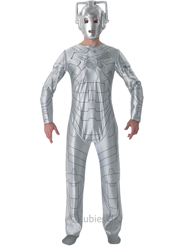 Sci Fi Doctor : Adult doctor who cyberman outfit fancy dress costume tv