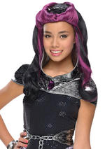 Child Raven Queen Wig With Headpiece