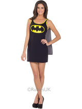 Batgirl Tank Dress With Button On Cape