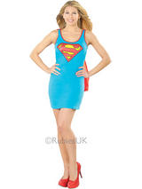 Supergirl Tank Dress With Button On Cape