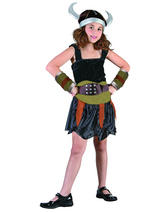 Child Viking Girl Costume Different Image