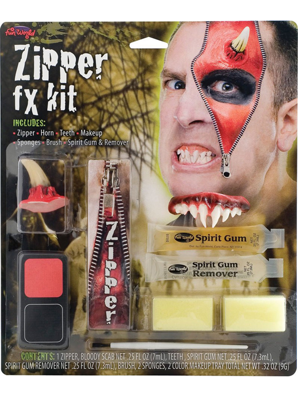 Deluxe Devil Zipper FX Kit Make Up