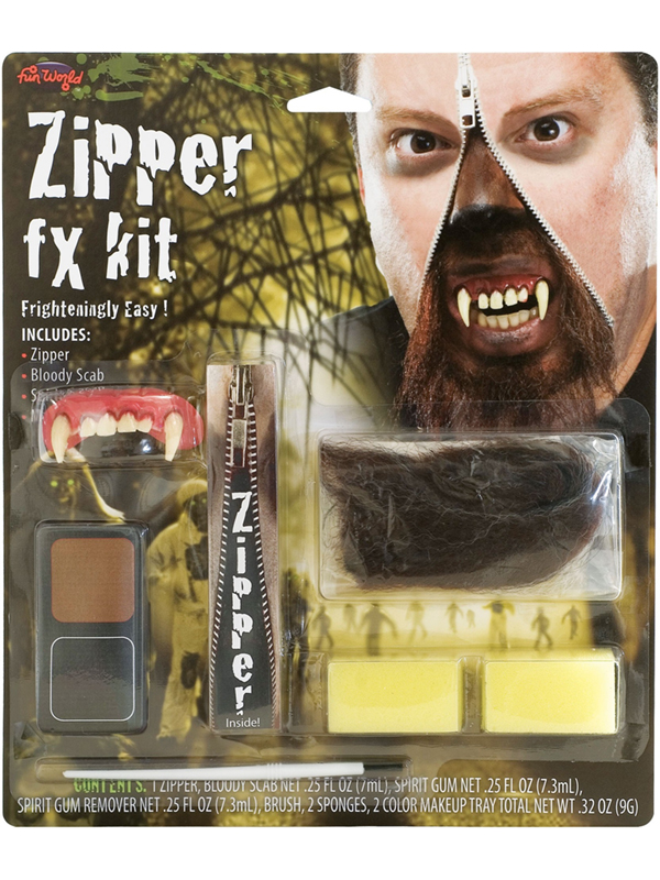 Deluxe Werewolf Zipper FX Kit Make Up