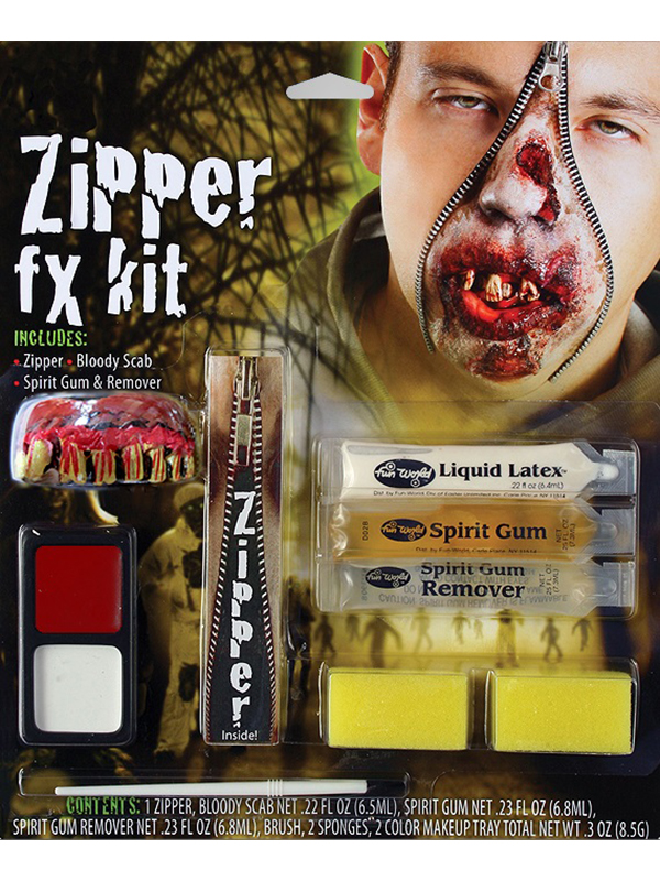Deluxe Zombie Zipper FX Kit Make Up