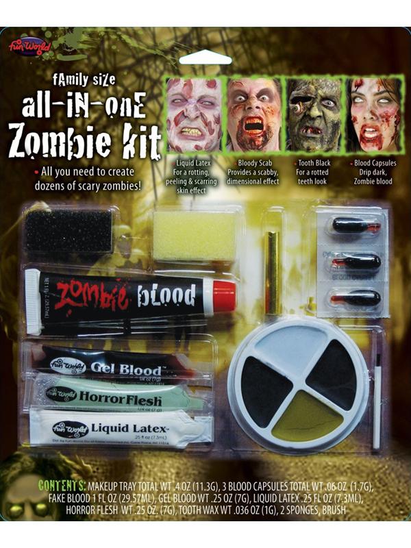 Family Zombie Makeup Kit
