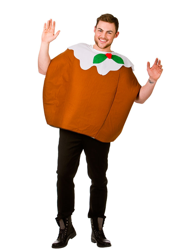 Adult Xmas Pudding Outfit Fancy Dress Costume One Piece