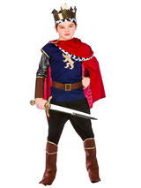 Boys Childs Deluxe Medieval King Fancy Dress Costume Knight Warrior Book Week