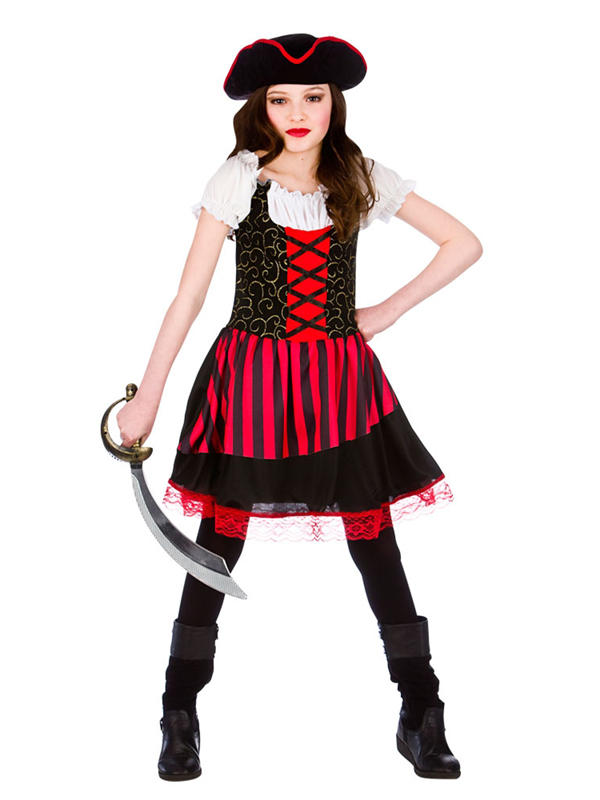 Child Girls Pretty Pirate Girl Costume