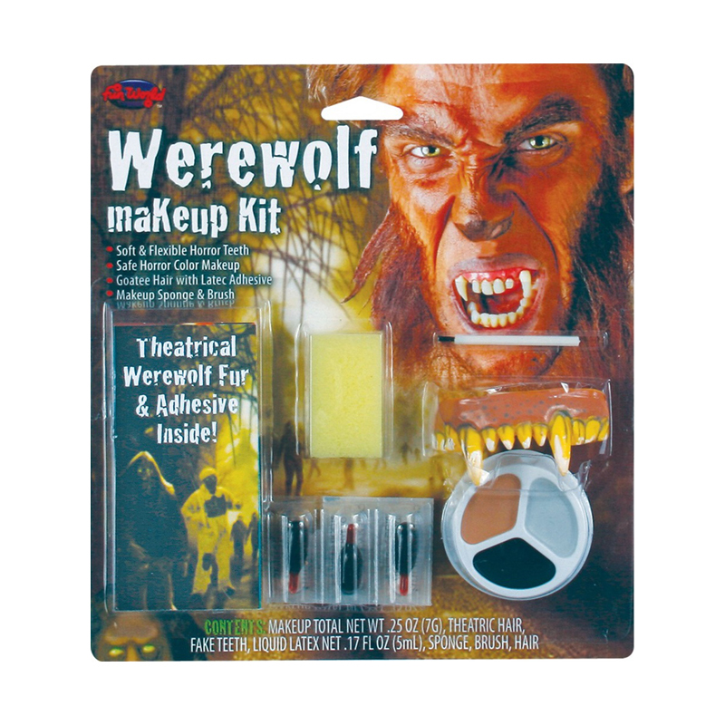 Halloween Special Effects FX Face Make Up Kits Teeth Horns Demon ...