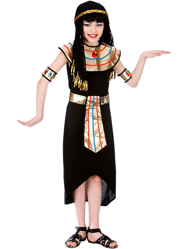 55b3fc830cb Sentinel Child Girls Princess Cleopatra Egyptian Queen Fancy Dress Kids  Costume Ages 5-13