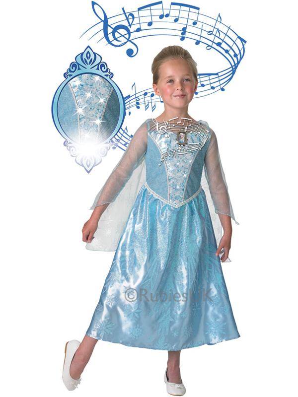 Sentinel GENUINE DISNEY Frozen Elsa Musical Light Up Snow Princess Fancy Dress Costume  sc 1 st  eBay & GENUINE DISNEY Frozen Elsa Musical Light Up Snow Princess Fancy ...