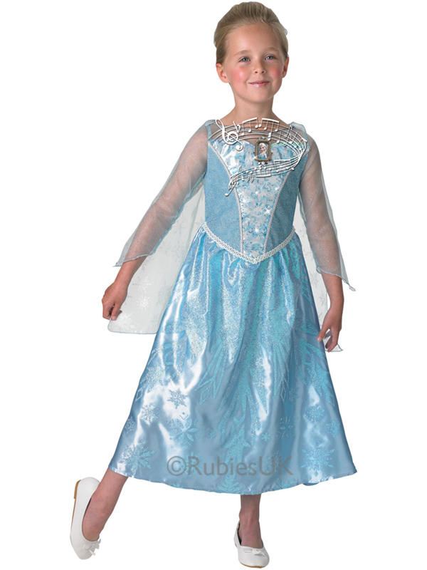 Child Disney Elsa Musical Light Up Costume Thumbnail 2