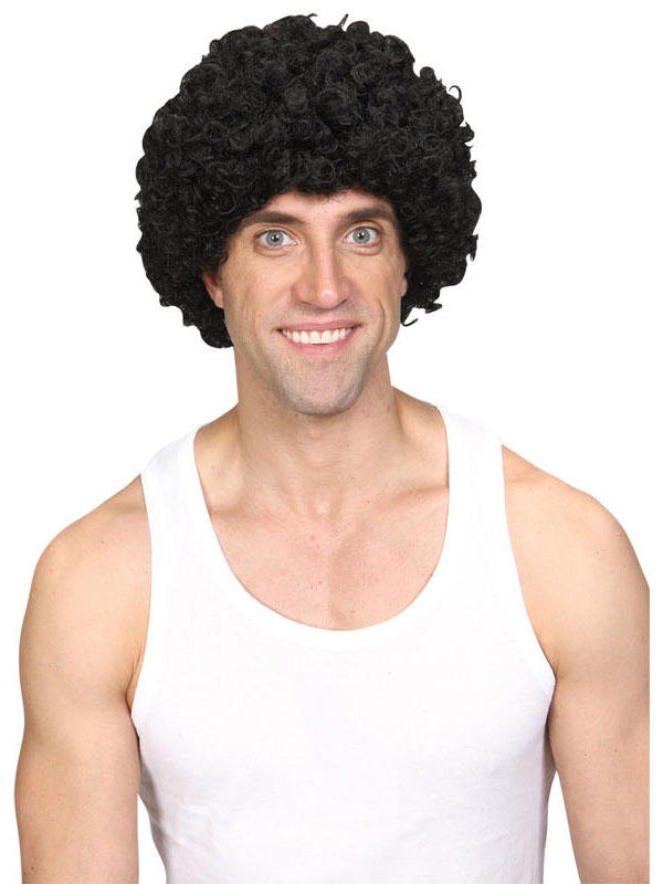 Adult Funky Afro Wig (Black) Thumbnail 2