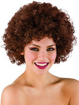 Adult Funky Afro Wig (Brown)