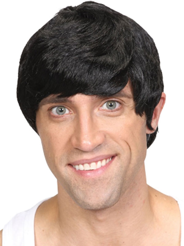 Adult Short Boy Band Wig Black