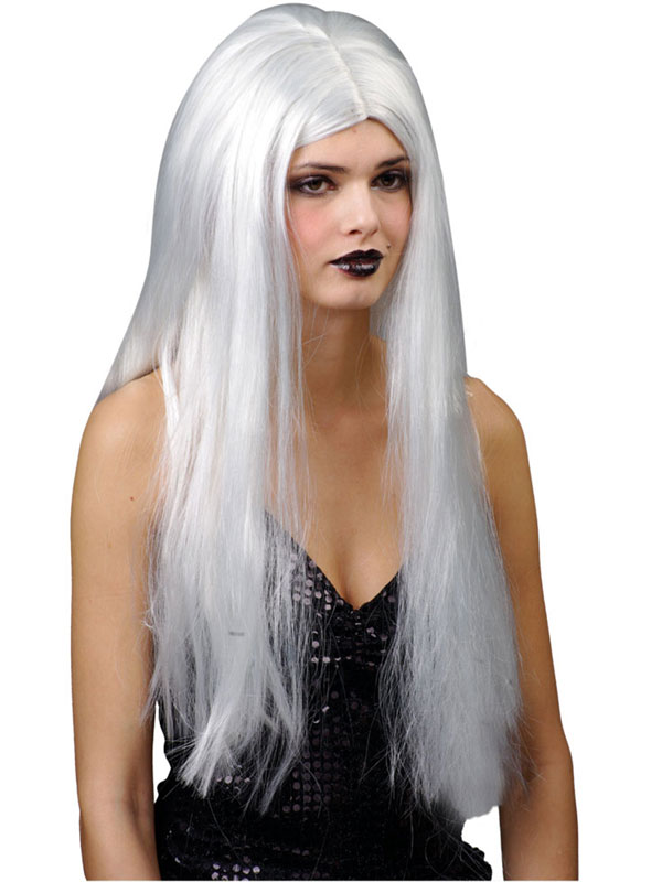 Adult Classic Long Silver Wig