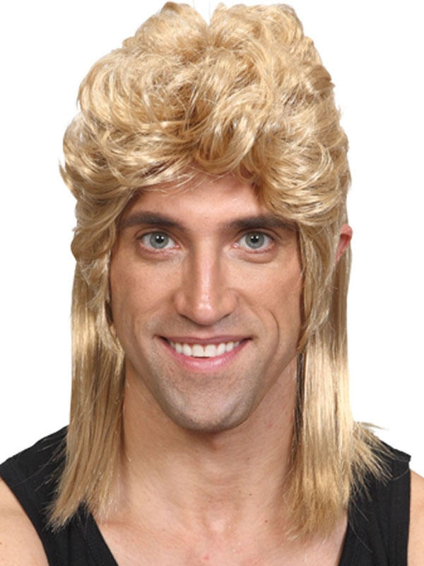Adult Mens 80'S Mullet Wig Blonde